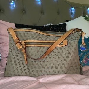 Dooney & Bourke Hobo Tan Classic Monogram Bag